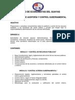 Contenido Seminario Auditoria y Control Gubernamental.