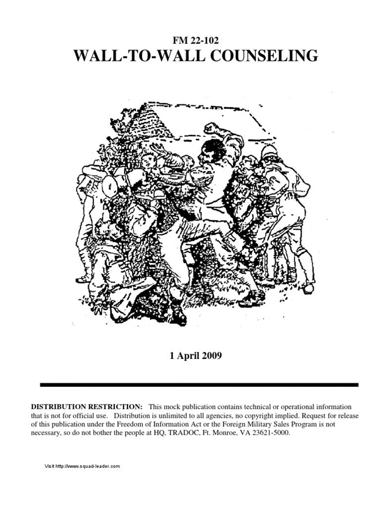 FM 22-102, Wall-to-Wall Counseling, Apr 2009   Handcuffs   Rape