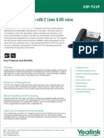 Yealink SIP-T21P Entry Level IP Phone Datasheet