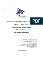 Informe Alternativo PIDCP Observatorio Venezolano de Prisiones