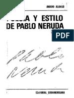Alonso, Amado. Poesia y Estilo de Pablo Neruda