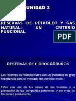 Unidad N° 3 Reservas de Petroleo y Gas Natural - Un criterio funcional