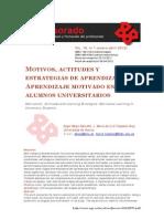 Motivos, Actitudes y Estrategias de Aprendizaje