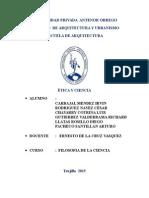 Informe de Ética y Ciencia
