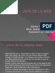 USOS DE LA WEB