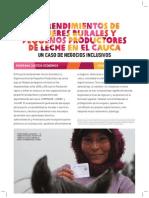 Emprendimiento de Mujeres Rurales y Pequeños Productores de Leche en el Cauca