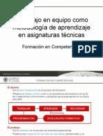 El Trabajo en Equipo Como Metodologia de Aprendizaje en Asignaturas Tecnicas-manuel Gasch