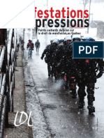 Report on repression of right to protest (in French)