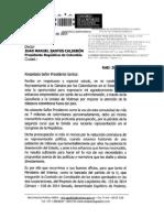 """Entrega del Manifiesto """"Por la integralidad de Derechos de los Colombianos en el Exterior"""" al presidente Juan Manuel Santos"""