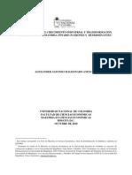 Evolución y Transformacion Productiva en Colombia