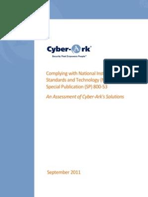 Cyber Ark NIST | Authentication | Password