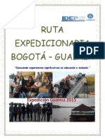 Expedición Pedagógica Bogotá -Guanía