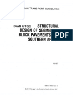 UTG-2 (1987) Structural Design of Segmental Block Pavements