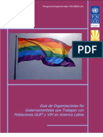 Guía de Organizaciones No Gubernamentales que Trabajan con oblaciones GLBT y VIH en America Latina 2009