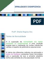 AULA 5 - Testes de Normalidade e Significancia