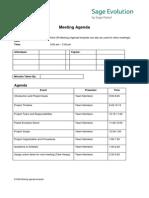 EVO08 - Meeting Agenda Template