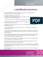 A guide to medieval resources