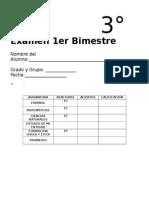 3er Grado - Bimestre 1 EXAMEN