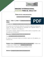 Modelo-comunicacion-seminario Internacional en Educacic3b3n Para El Siglo Xxi