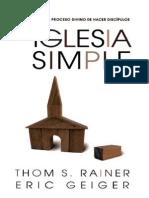 Iglesia Simple_ Como Volver Al - Thom S. RainerEric Geiger