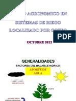Diseño Agronomico Riego Localizado