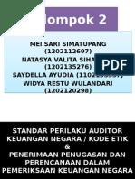standar perilaku auditor keuangan negara