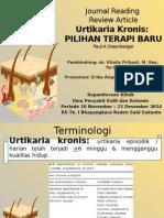 Jurding Erika - Chronic Urticaria New Treatment Options