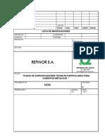 Especificación Técnica de Cubiertas Metálicas