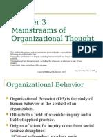Main organizational Thought