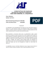 Capilaridad - Hidraulica