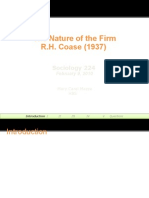 The Nature of the Firm R.H. Coase