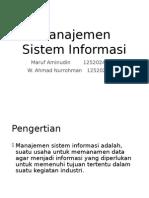 Manajemen Sistem Informasi