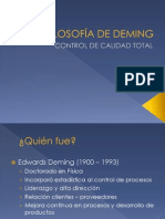 Filosofía de Deming