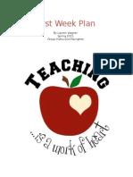 best practices  first week plan