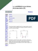 Equilibrio y Estabilidad en Un Sistema Electromecánico