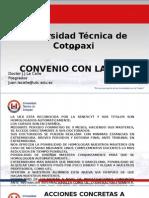 Presentación Convenio UEX-UTC