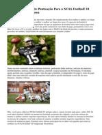 Assim, A Maneira De Pontua??o Para o NCAA Football 10 Temporada Showdown