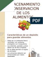 Almacenamiento y Conservacion de Los Alimentos