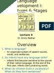 Language and developmental psychology