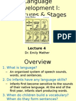 Language and developmental psychology