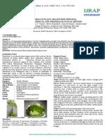 the miracle plant (kalanchoe Pinnata) a pyhtochemical review