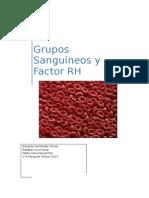 Grupos Sanguineos y Factor Rh