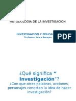 Investigacion y Educacion