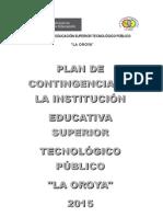Plan de Contingencia Del Istplo