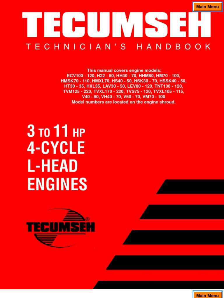 tecumseh service manual carburetor ignition systemTecumseh 6hp Ohv Engine Diagram #6