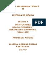 Escuela Secundaria Tecnica 85 Historia de mÉxico