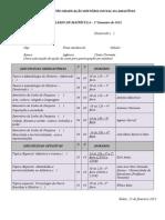 Formulário de Matrícula 2015 1
