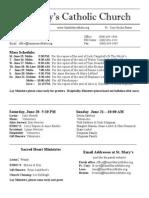 Bulletin for June 14 2015