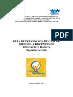 Guia de Prevencion de Cancer Dirigida a Docentes de Educación Básica