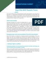 [Short Paper] WHS Thematic Team Meeting, Bonn 21-23 April 2015